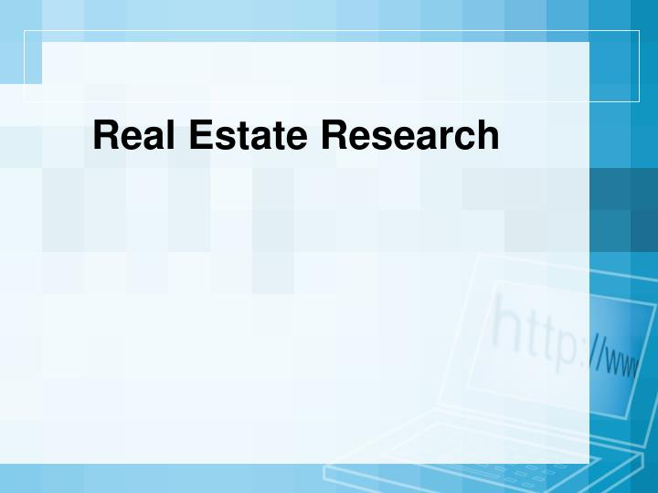 Real Estate Research
