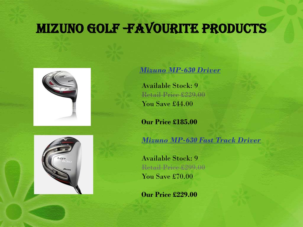 Mizuno Golf -Favourite Products