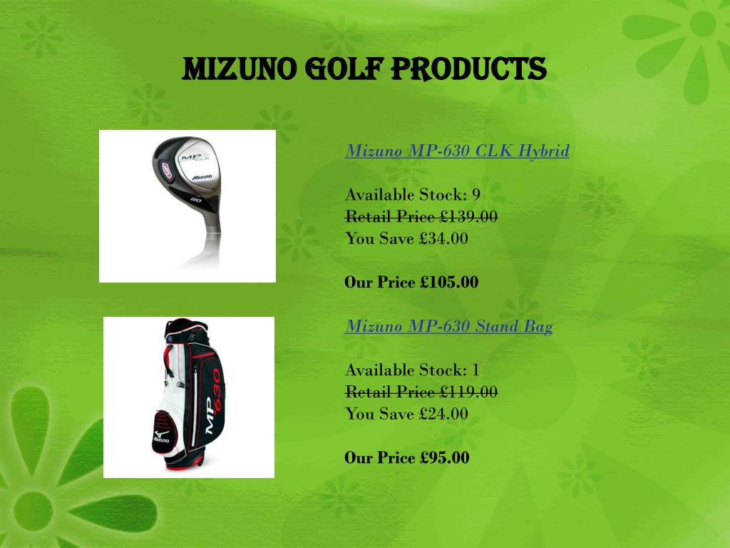 Mizuno Golf Products