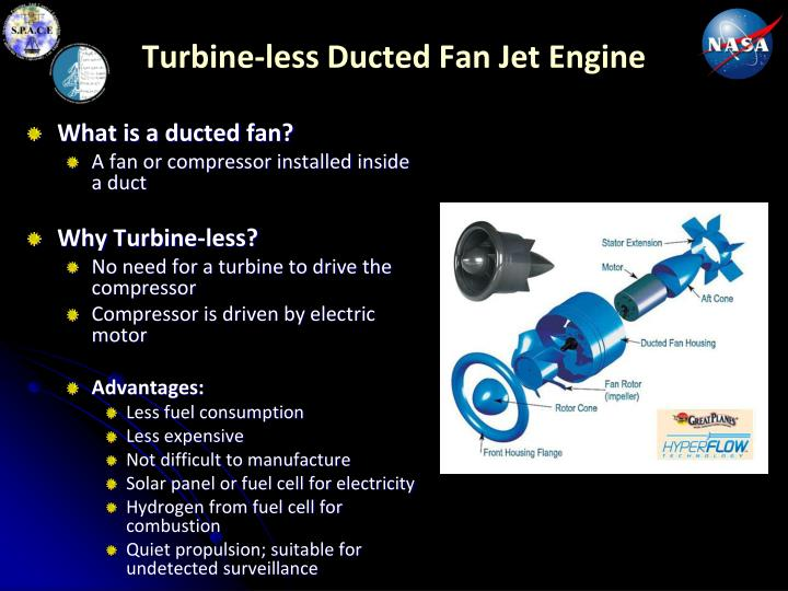 Turbine-less Ducted Fan Jet Engine