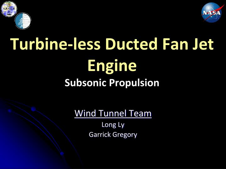 Turbine less ducted fan jet engine subsonic propulsion