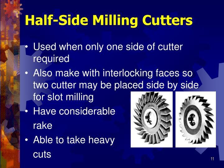 Half-Side Milling Cutters