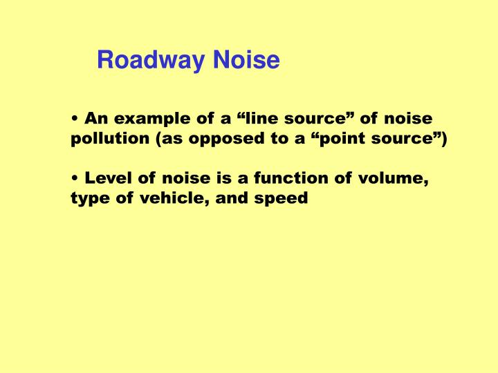 Roadway Noise