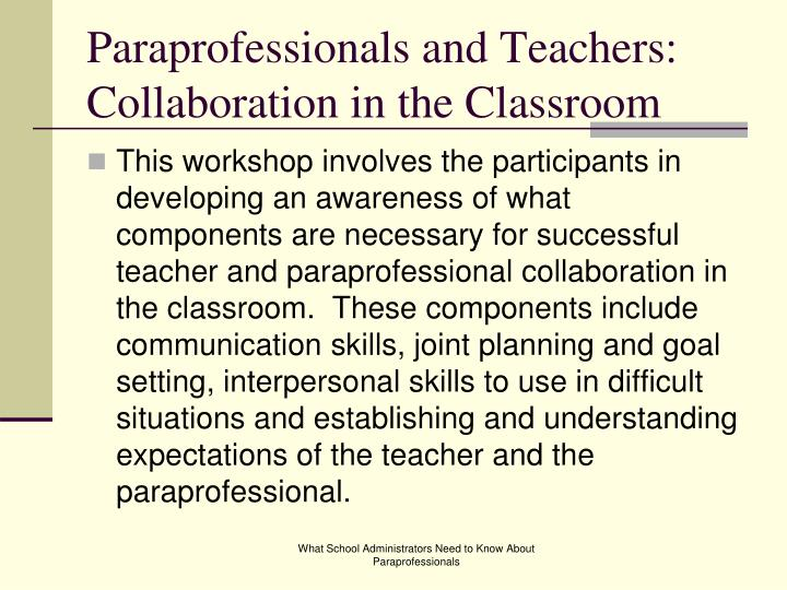 Collaborative In The Classroom ~ Ppt what school administrators need to know about