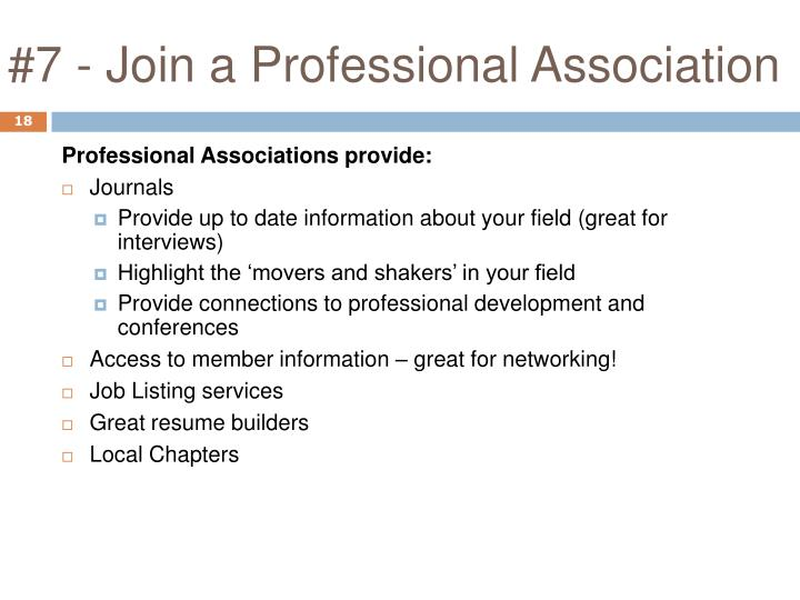 #7 - Join a Professional Association
