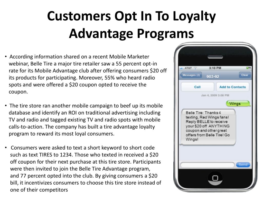 Customers Opt In To Loyalty Advantage Programs