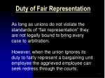 duty of fair representation1