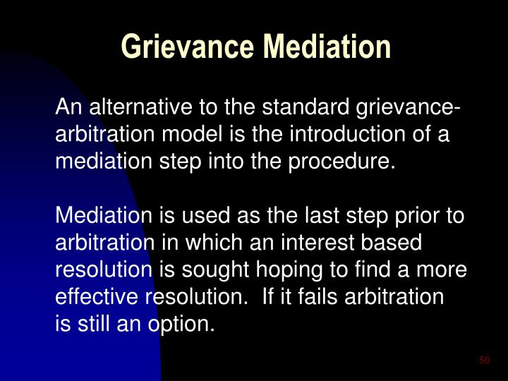 Grievance Mediation