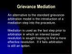 grievance mediation