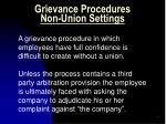grievance procedures non union settings1