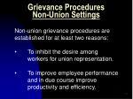 grievance procedures non union settings2