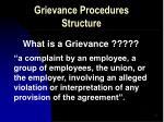 grievance procedures structure7