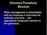 grievance procedures structure9
