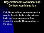 organizational government and contract administration3