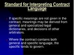 standard for interpreting contract language1