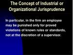 the concept of industrial or organizational jurisprudence1