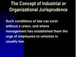 the concept of industrial or organizational jurisprudence2