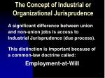 the concept of industrial or organizational jurisprudence4