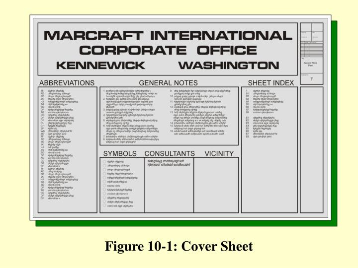 Figure 10-1: Cover Sheet