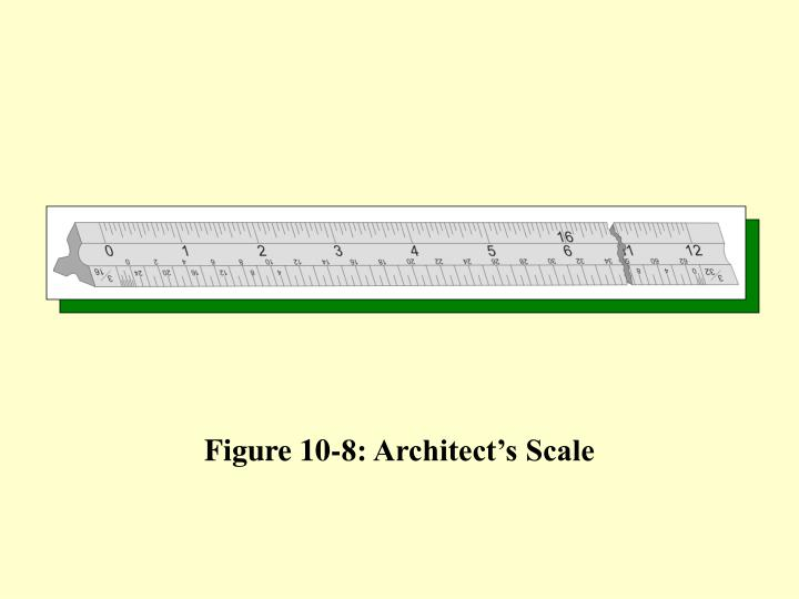 Figure 10-8: Architect's Scale