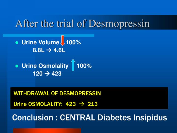 After the trial of Desmopressin