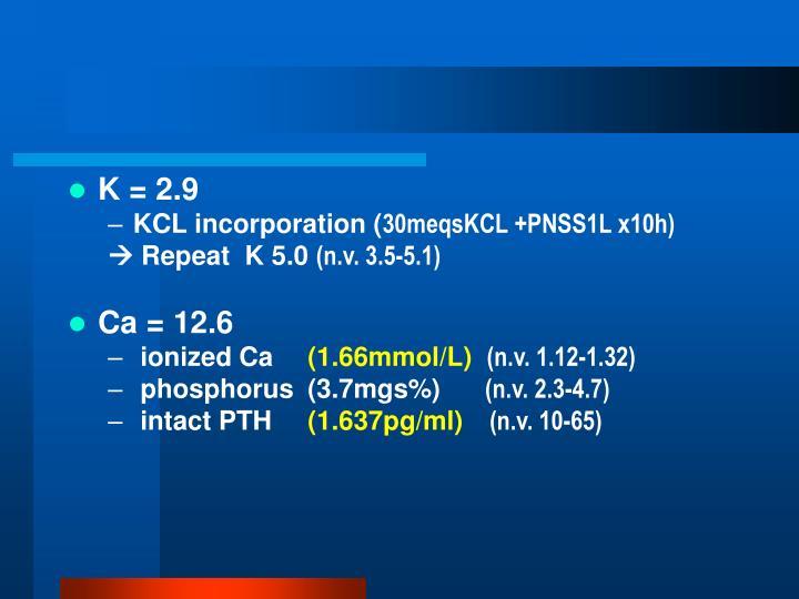 K = 2.9