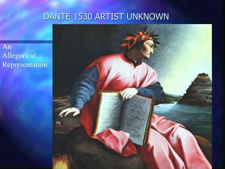 DANTE 1530 ARTIST UNKNOWN