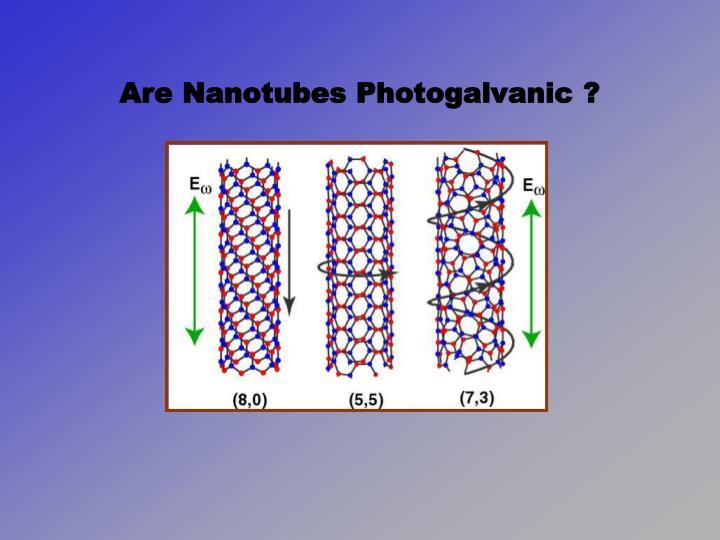 Are Nanotubes Photogalvanic ?