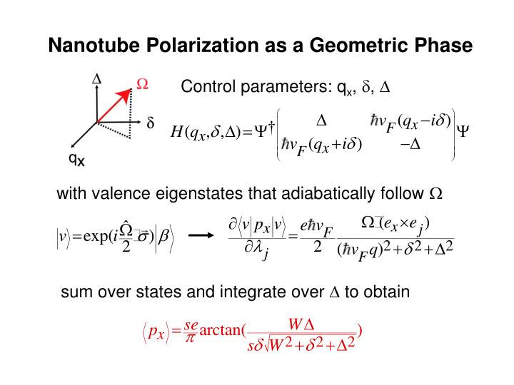 Nanotube Polarization as a Geometric Phase