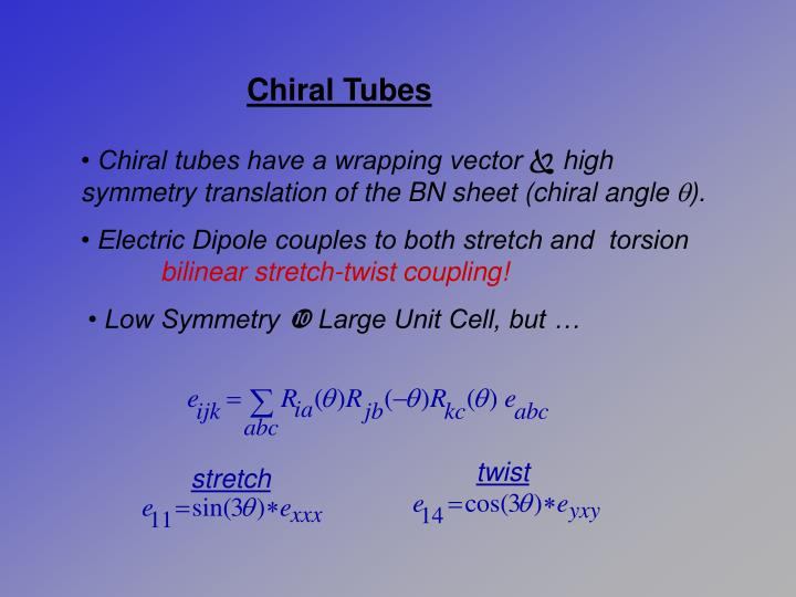 Chiral Tubes
