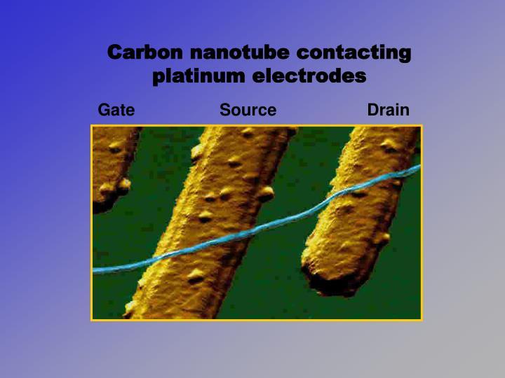 Carbon nanotube contacting