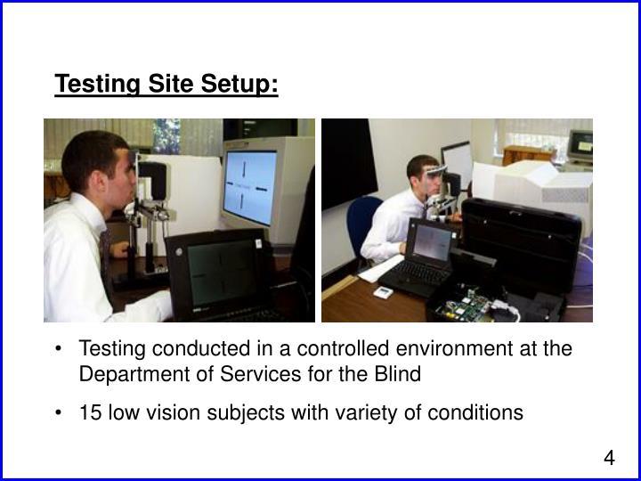Testing Site Setup: