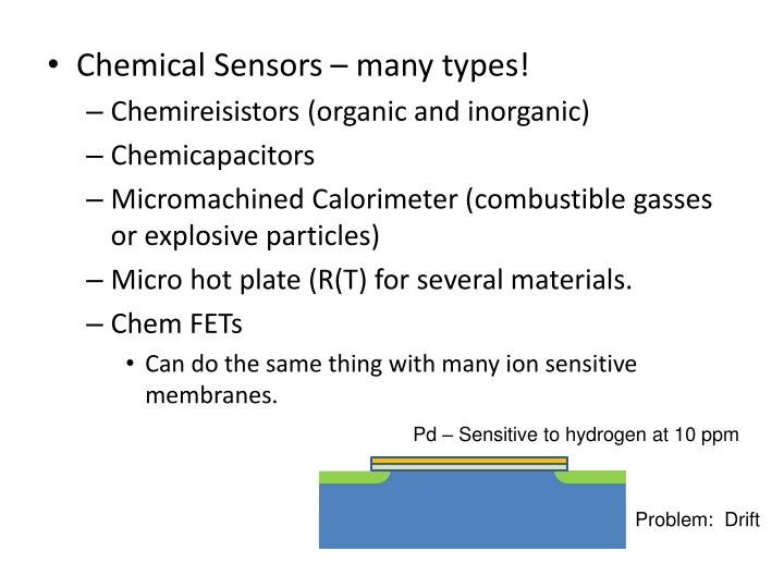 Chemical Sensors – many types!