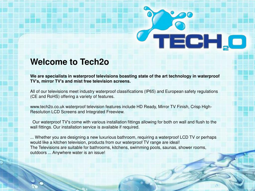Welcome to Tech2o