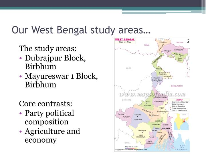 Our West Bengal study areas…