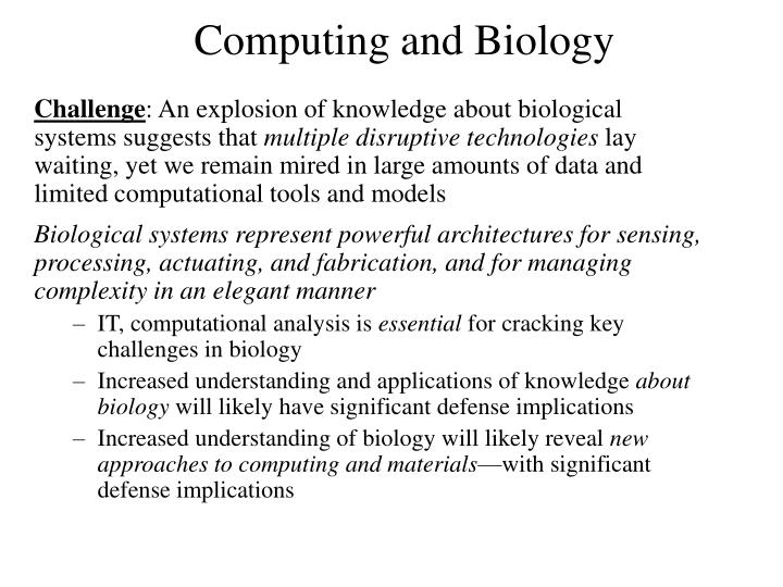 Computing and Biology