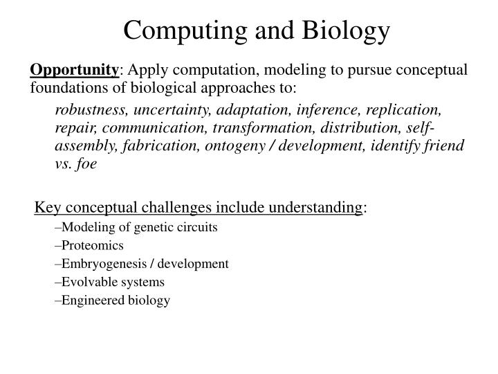 Computing and Biology