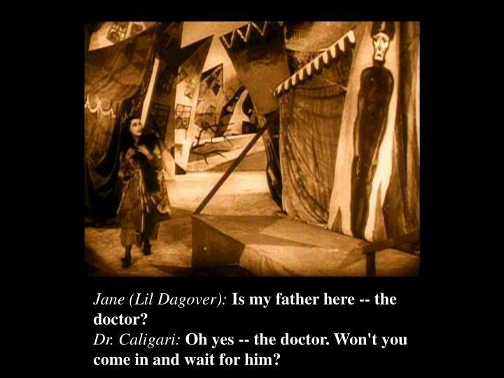 Jane (Lil Dagover):