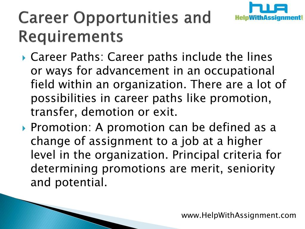 Career Opportunities and Requirements