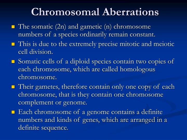 Chromosomal Aberrations