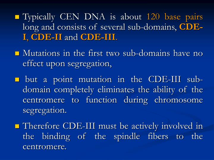 Typically CEN DNA is about