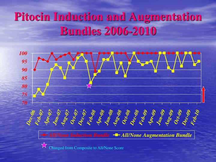 Pitocin Induction and Augmentation Bundles 2006-2010