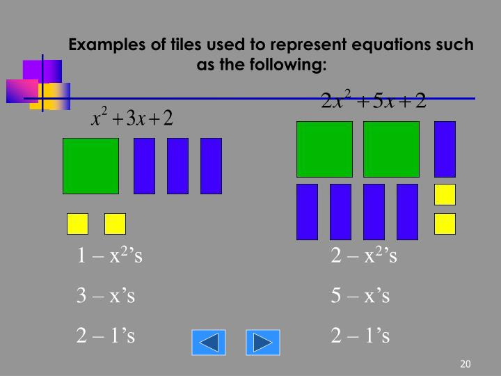algebra tile template - solving equations with algebra tiles tessshebaylo