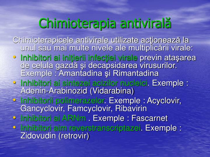Chimioterapia antivirală