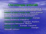 chimioterapia antiviral