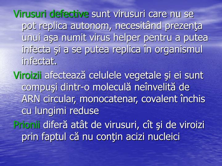 Virusuri defective