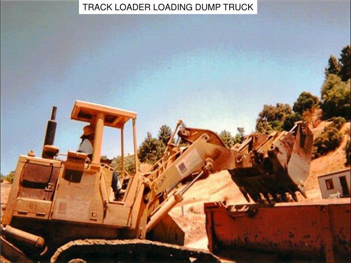 TRACK LOADER LOADING DUMP TRUCK