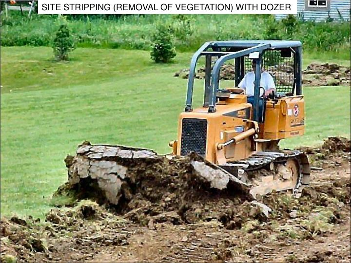 SITE STRIPPING (REMOVAL OF VEGETATION) WITH DOZER