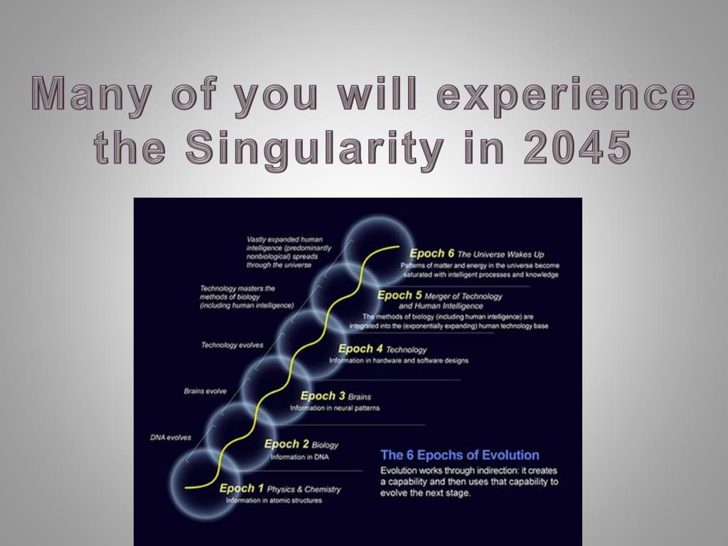 Many of you will experience the Singularity in 2045