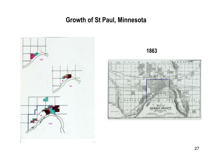 Growth of St Paul, Minnesota